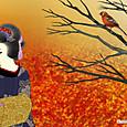 秋 日本画風